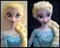 cartoon elsa ooak doll. - if frozen had been 2d. by verirrtesIrrlicht