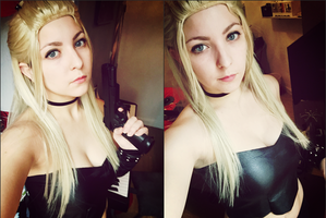 Trish from Devil May Cry cosplay test by Dragunova-Cosplay