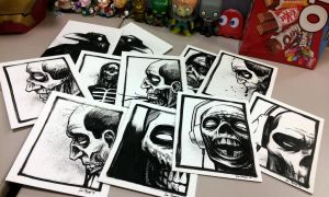 ink sketches i gave to coworkers for halloween by cadaverperception