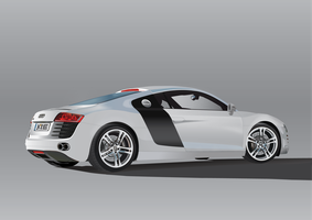Illustration Audi R8 by archdeviL87