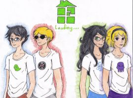 Please Wait-Loading HomeStuck by silverowl19
