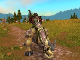 World of Warcraft - Riding on my Kodo by Gery850