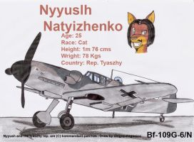 Nyyush and his Bf-109G-6N by DingoPatagonico