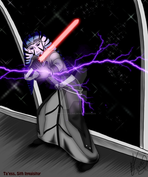 SWTOR: Ta'ess the Sith Sorcerer by YamiCrystalline