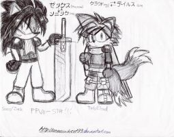 Sonic is Zack, Tails is Cloud by anemixdacat93
