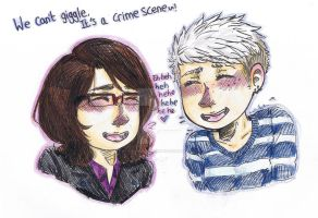 We Can't Giggle, It's A Crime Scene~ by psycho-bunny-bunny