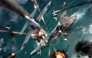 WW2 Air battle by Crimsonkiwi