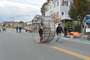 The Human Hamster Wheel Rolling Down the Street 4 by Miss-Tbones