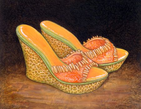 Cantaloupe Sandals by ursulav
