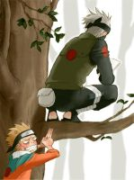 Naruto and Kakashi by RedBlazer200