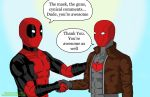 Deadpool and Red Hood by Shega9146