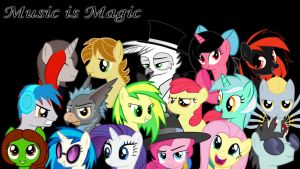 Music is Magic wallpaper by PAINLESSBRONY