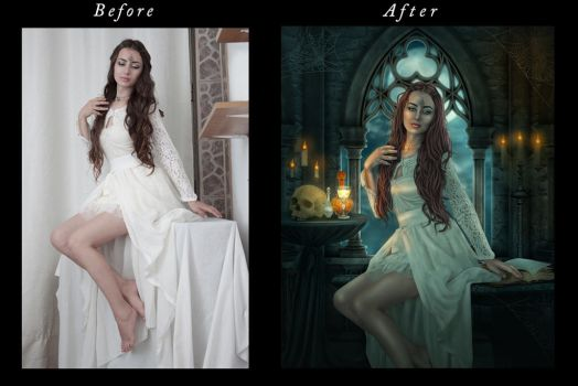 white witch before after by ektapinki