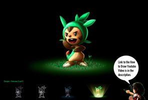 How to Draw Pokemon X and Y - Chespin by RoryDoona