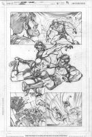 Legion 7 page 14 pencils by Cinar