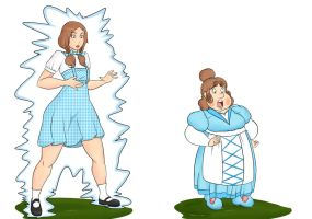 Dorothy to munchkin by theSchatte