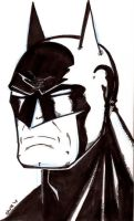 Quick Head Sketch Batman by ChrisSummersArts