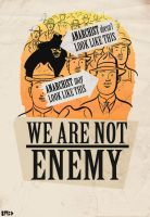 anarchist's are not enemy by Swoboda