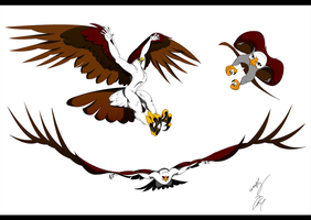 Anthro Golden Eagle Flight by GunZcon