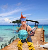 Final Fantasy 10 - Wakka Guarding the Pier by Nayias01