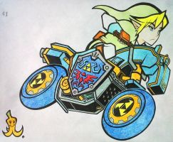 Mario Kart - Link and Mastercycle by SpaceCowboy-D
