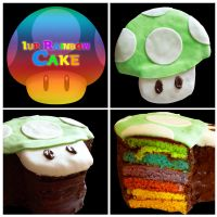 1 up Birthday Cake by Lysa-Bell