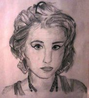 Kreayshawn graphite portrait by Cypher-Black