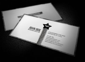 Clean Grunge Business Card by glenngoh
