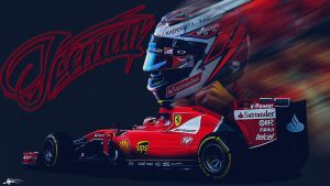 Kimi Raikkonen 2015 Wallpaper by woe2009