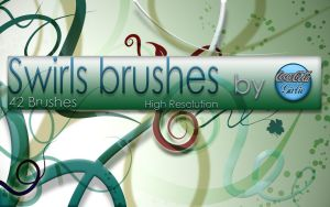 Swirl Brushes by cocacolagirlie