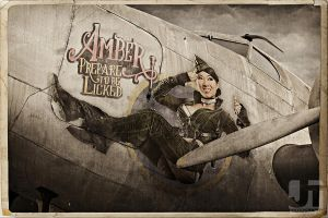 Amber B-17 Decal by jaytablante