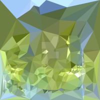 Limerick Green Abstract Low Polygon Background by apatrimonio
