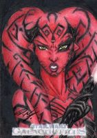 Star Wars GF - Darth Talon Sketch Card 1 by DenaeFrazierStudios