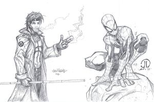 Spiderman Gambit Commission by MetaWorks