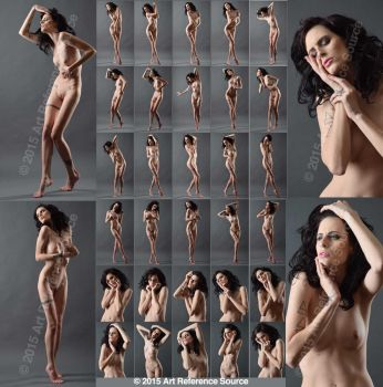 Stock: Kimberley 30 Dramatic Standing Nudes by ArtReferenceSource