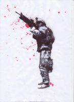 Soldier stencil by Comrade47