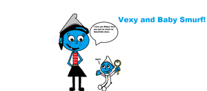 Vexy and Baby Smurf! by Smurfette123