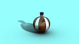 Game Asset Design 1 Glass Bottle by McKravendrawings