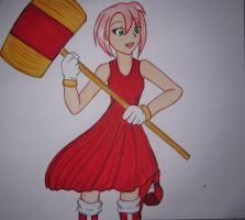 Amy Rose For Tempest Moon by MikaBlackwood