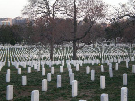 Surreal View at Arlington National Cemetery by Zer0II