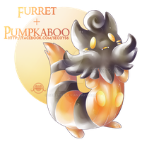 Furret X Pumpkaboo by Seoxys6