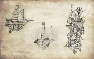 Some Airships by Van-Oost