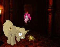 My Little Amnesia: PewdiePie and Pinkie Pie by mischakins