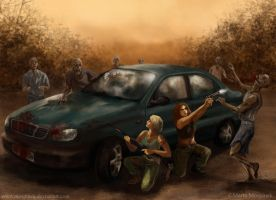 Zombie attack by Mospineq