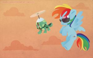 Rainbow Dash and Tank by CaramelCookie