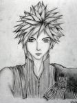 Sketch: Cloud Strife by xtiene