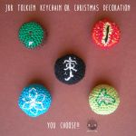 J.R.R.Tolkien Keychain or Christmas Decoration by Tofe-lai