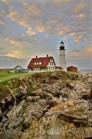 The lighthouse at Portland by alahay