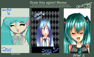 Draw this again Meme!! Hatsune Miku! [UPDATED] by Raiyenn