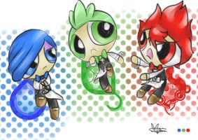 Powerpuff Striaton Trio by Marini4